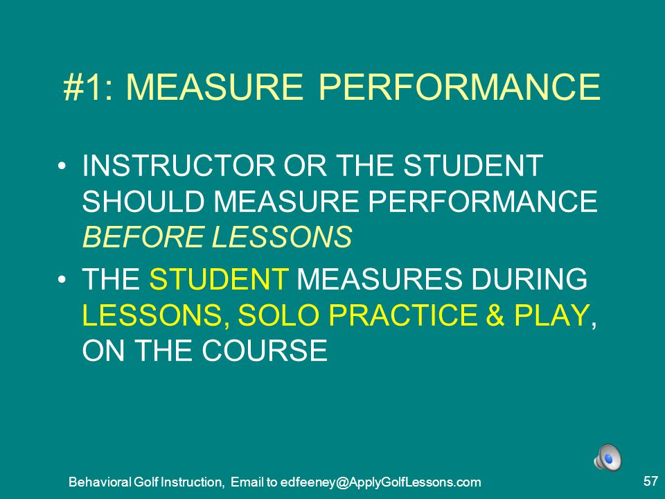 #1: MEASURE PERFORMANCE