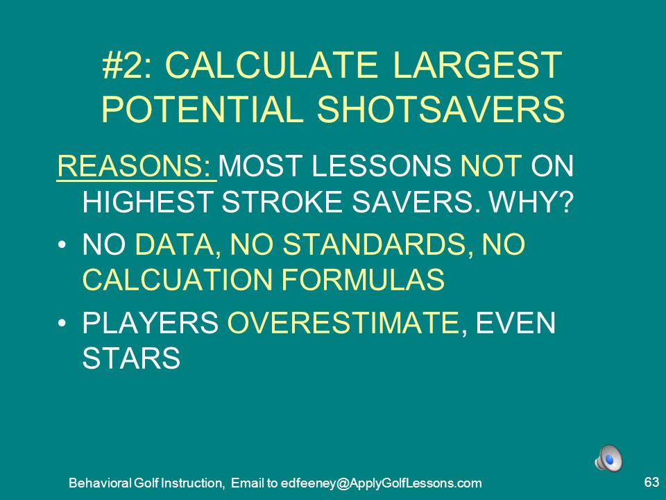 #2: CALCULATE LARGEST POTENTIAL SHOTSAVERS