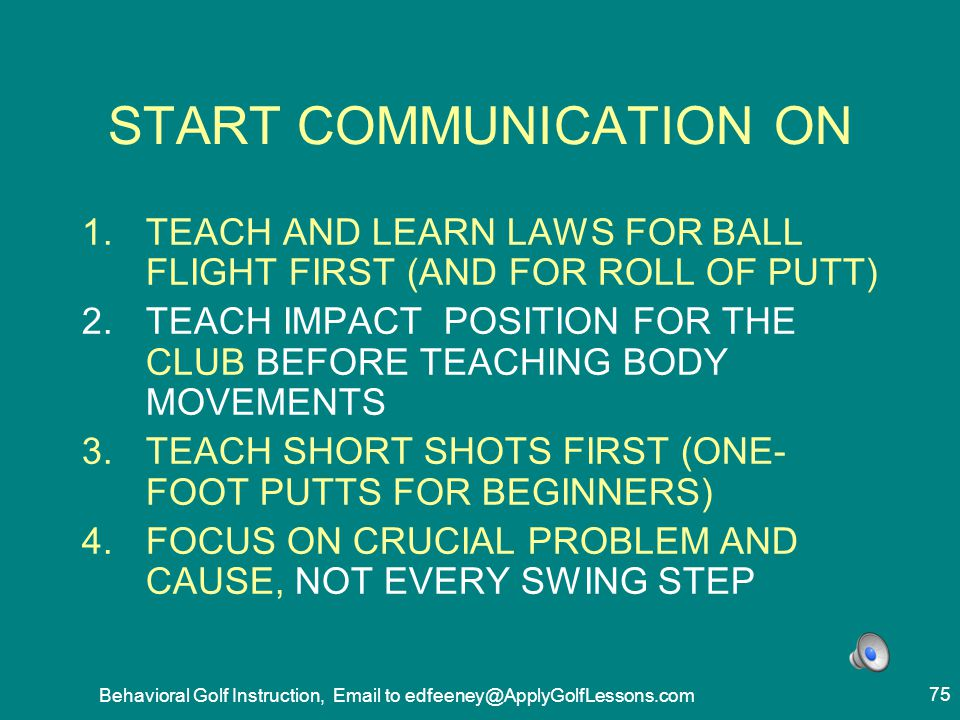 START COMMUNICATION ON