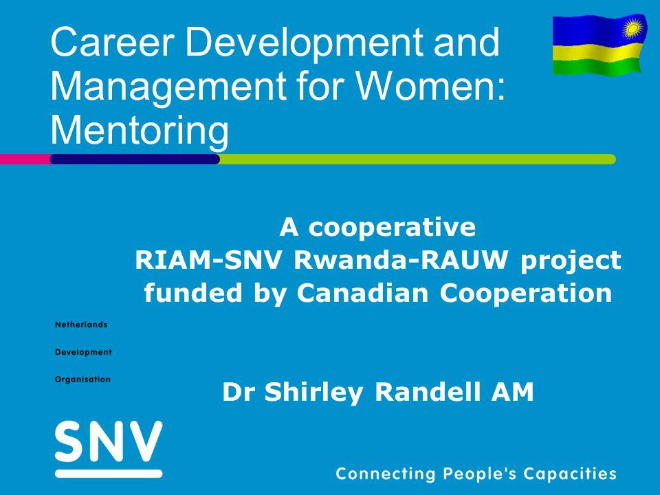 Career Development and Management for Women: Mentoring