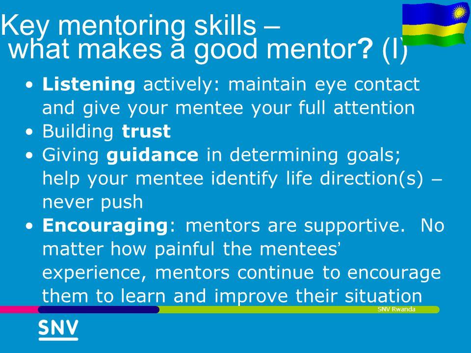 Key mentoring skills – what makes a good mentor (I)