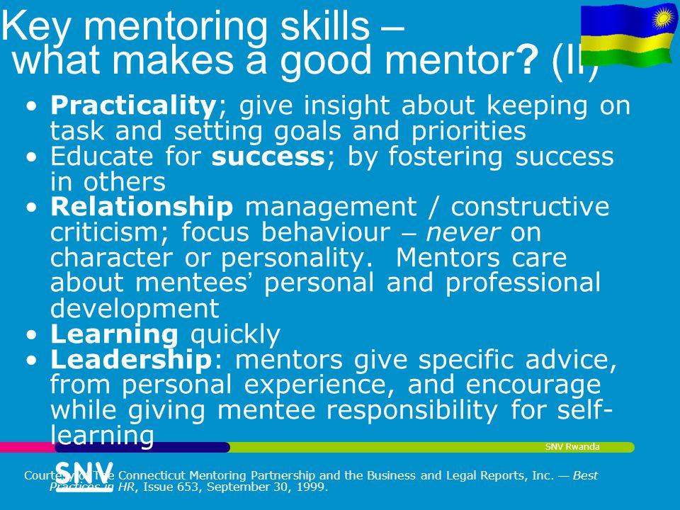 Key mentoring skills – what makes a good mentor (II)