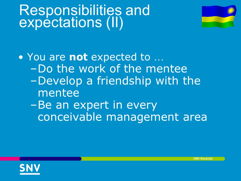 Responsibilities and expectations (II)