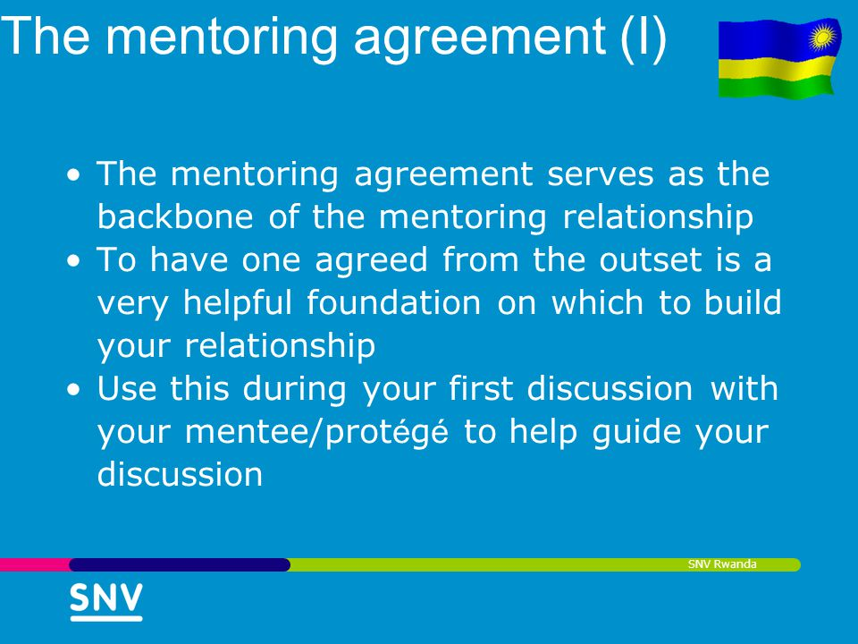 The mentoring agreement (I)