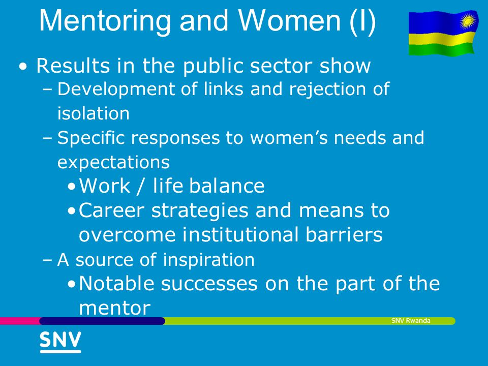 Mentoring and Women (I)
