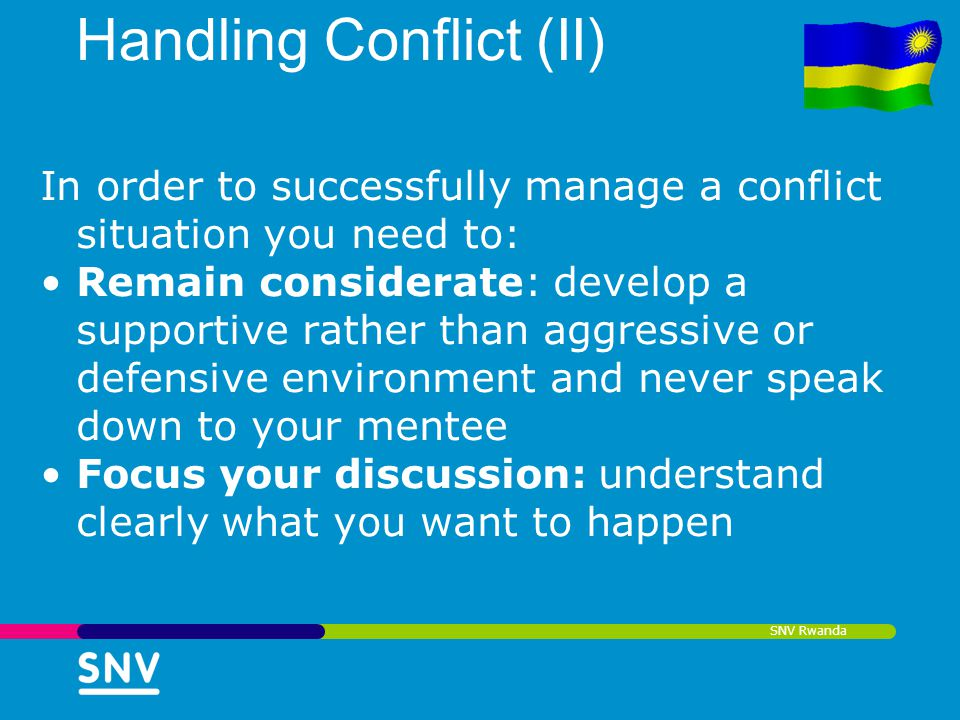 Handling Conflict (II)
