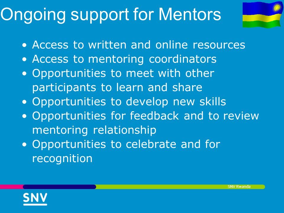 Ongoing support for Mentors