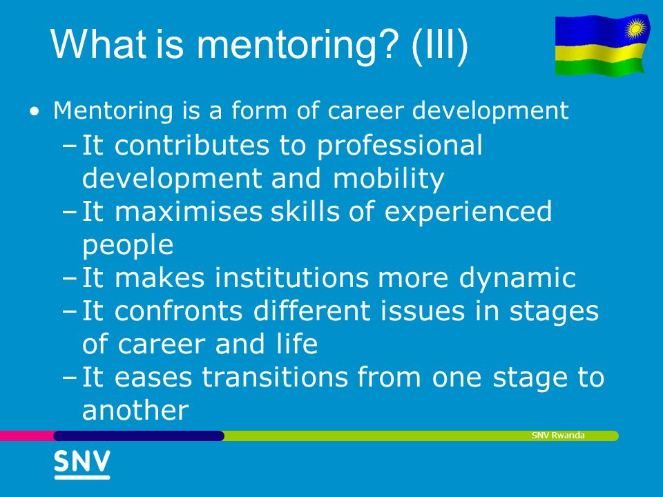 What is mentoring (III)