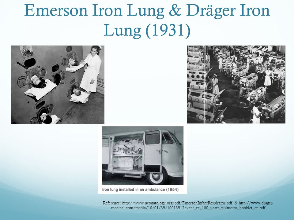 Emerson Iron Lung & Dräger Iron Lung (1931)