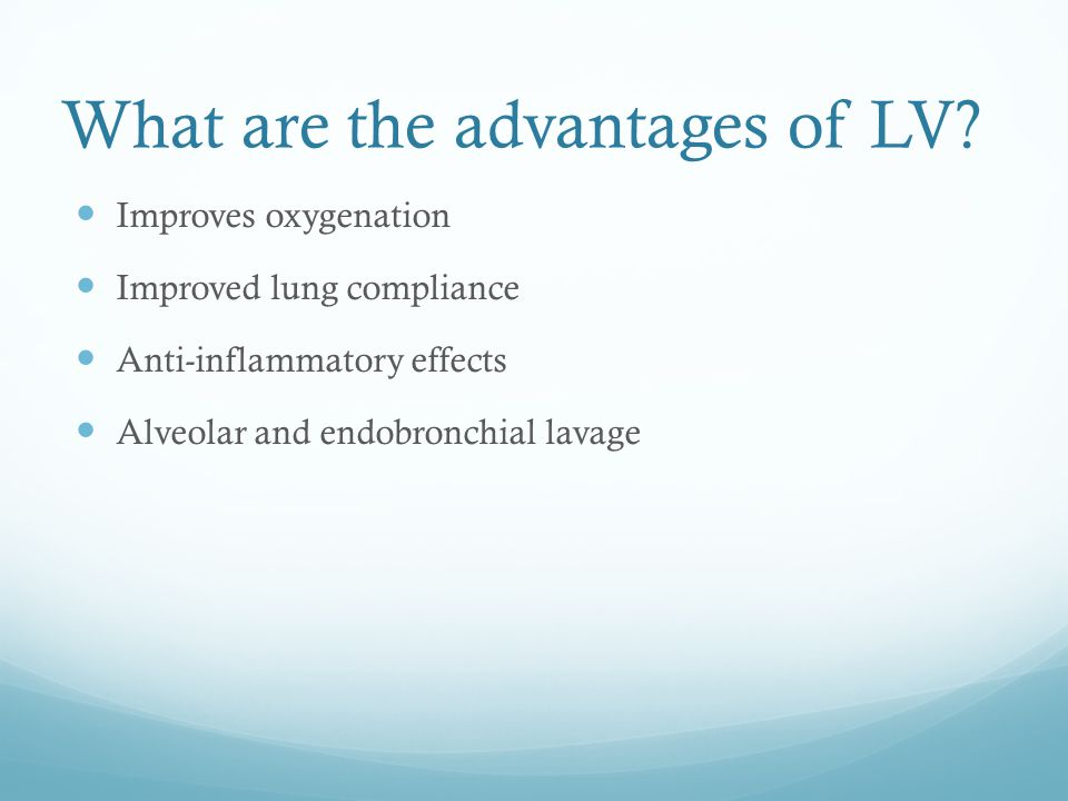 What are the advantages of LV