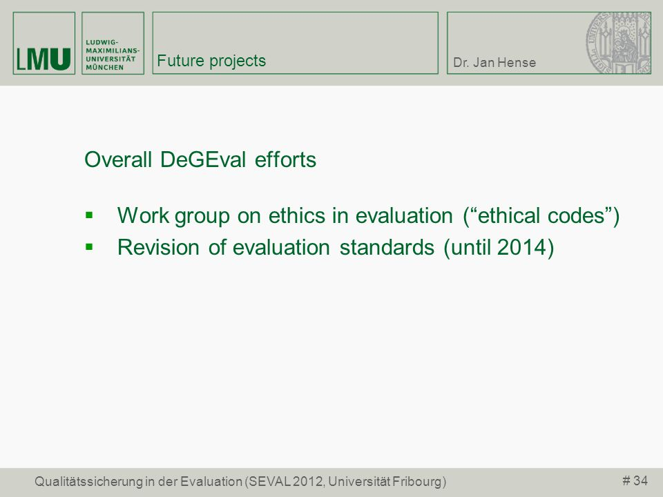Overall DeGEval efforts