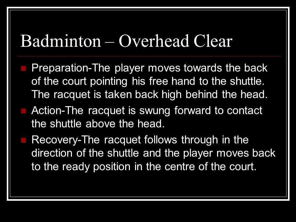 Badminton – Overhead Clear