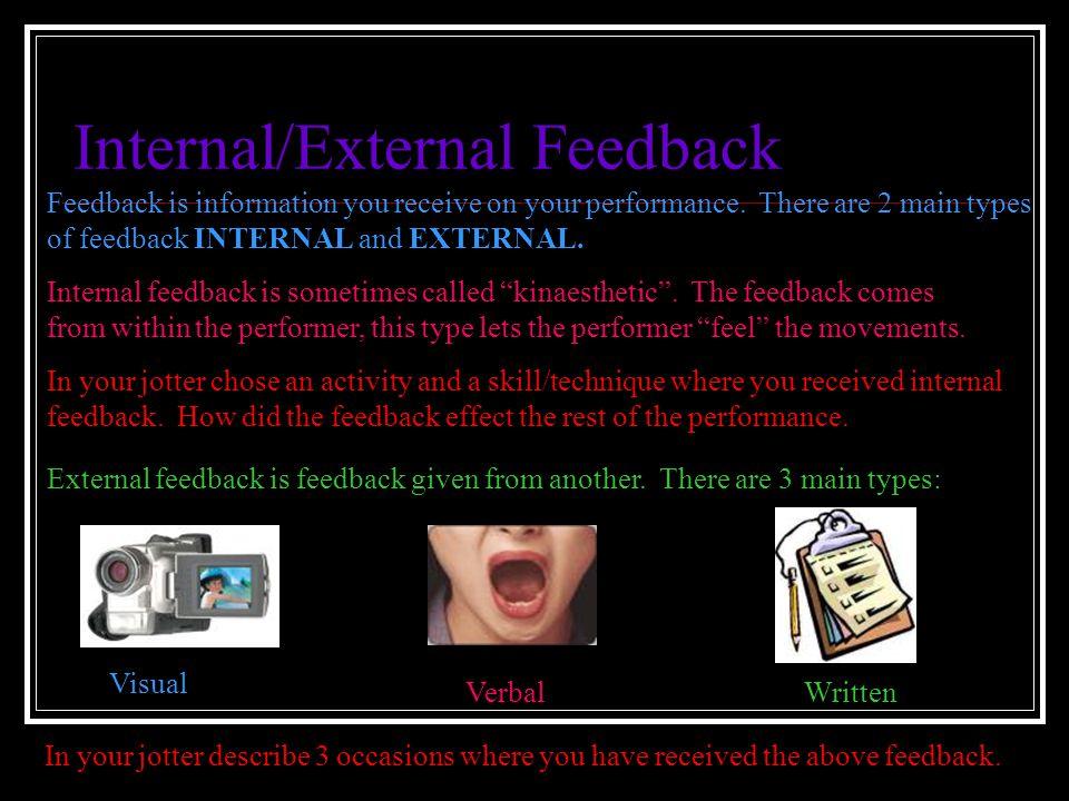 Internal/External Feedback