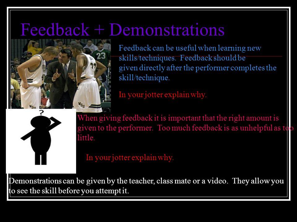 Feedback + Demonstrations