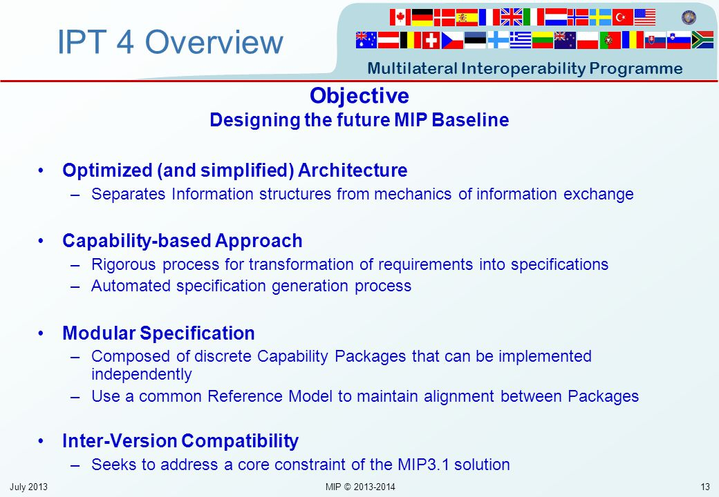 Designing the future MIP Baseline