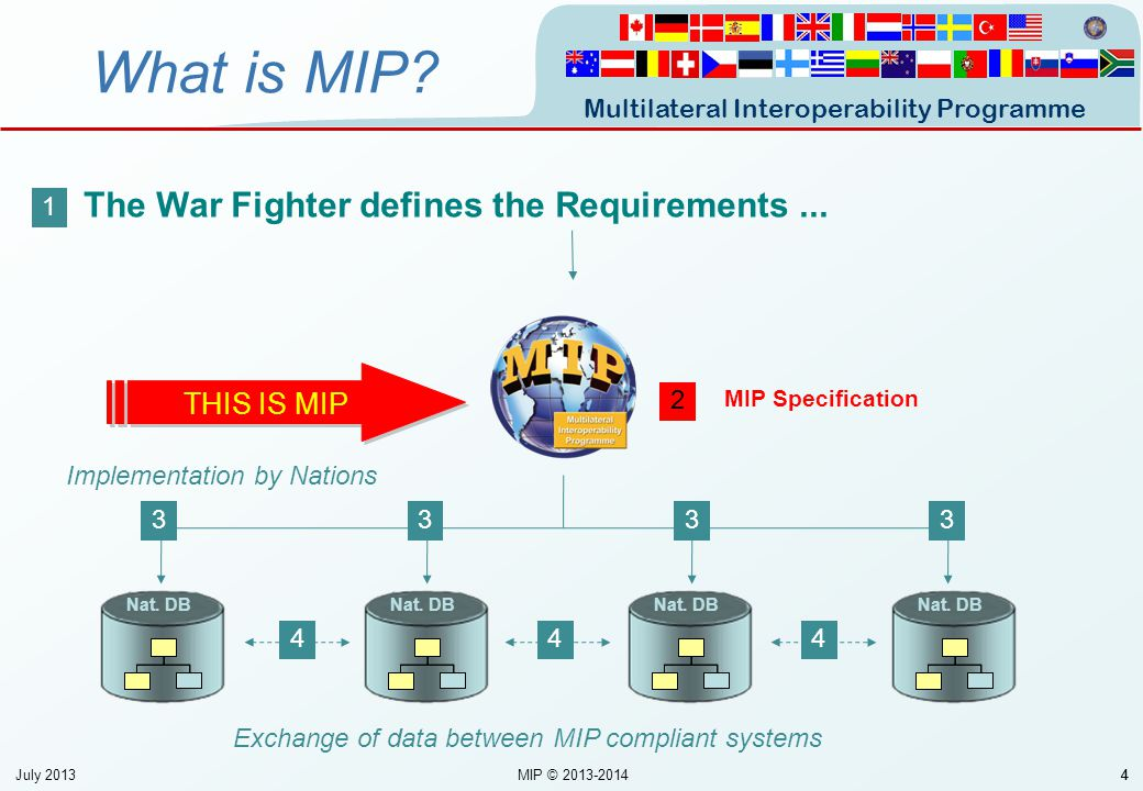 What is MIP The War Fighter defines the Requirements ... THIS IS MIP