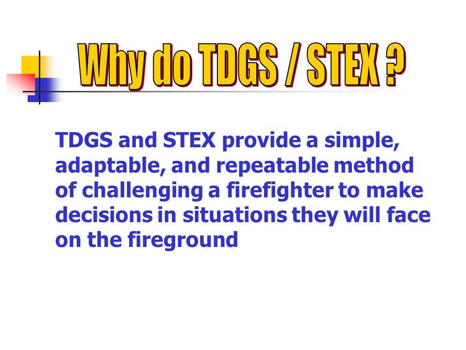 Why do TDGS / STEX