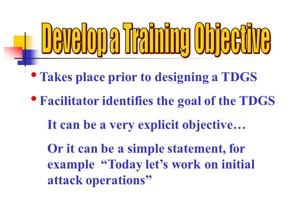 Develop a Training Objective