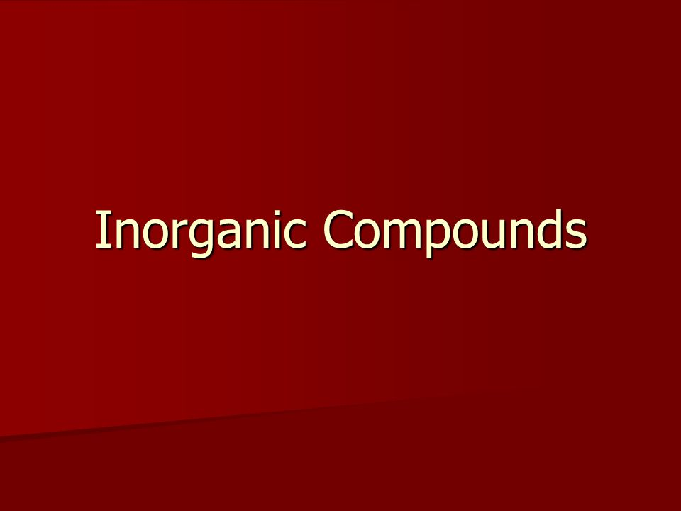 Inorganic Compounds