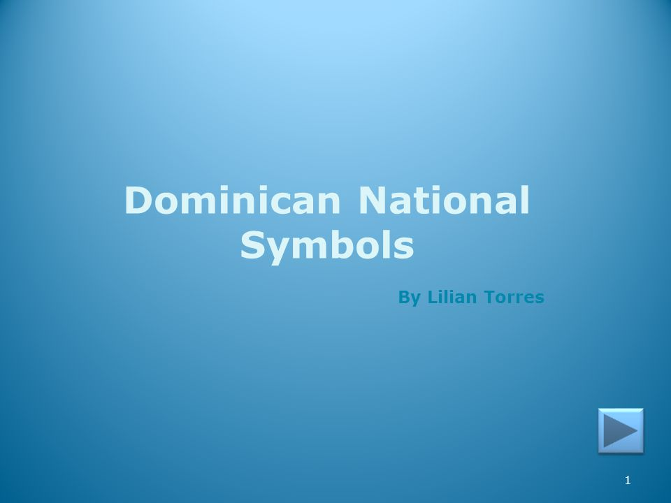 Dominican National Symbols
