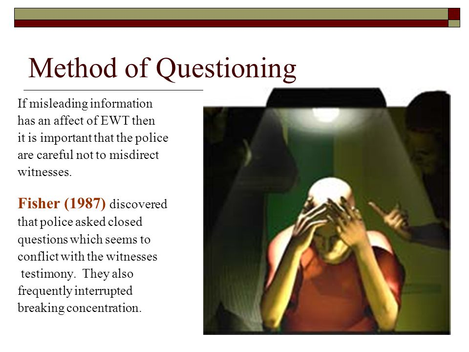 Method of Questioning Fisher (1987) discovered