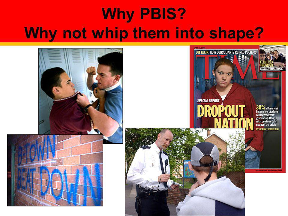 Why PBIS Why not whip them into shape
