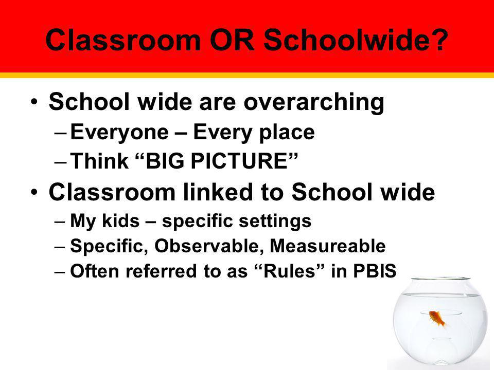 Classroom OR Schoolwide