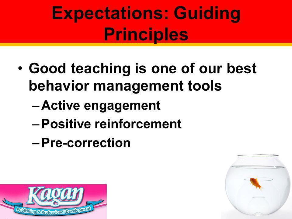Expectations: Guiding Principles