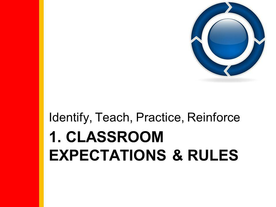 1. Classroom Expectations & Rules