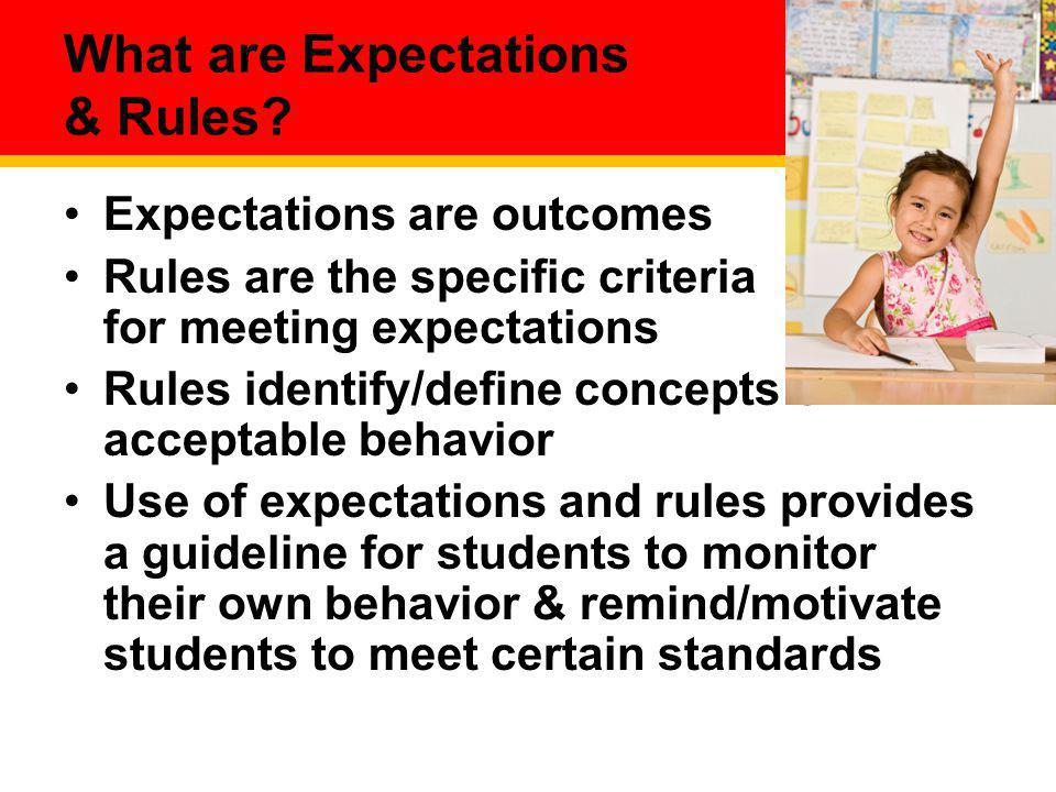 What are Expectations & Rules