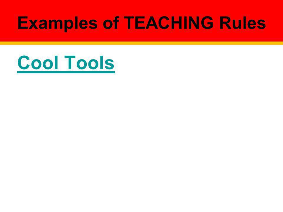 Examples of TEACHING Rules