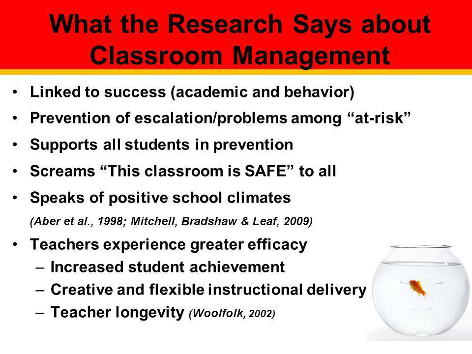 What the Research Says about Classroom Management