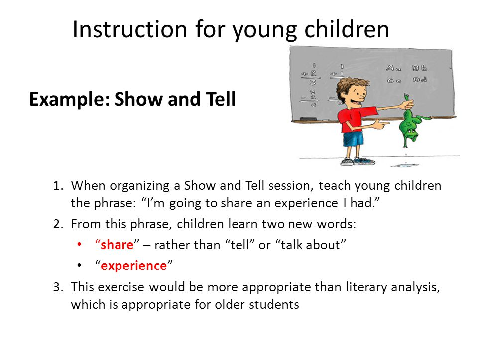 Instruction for young children