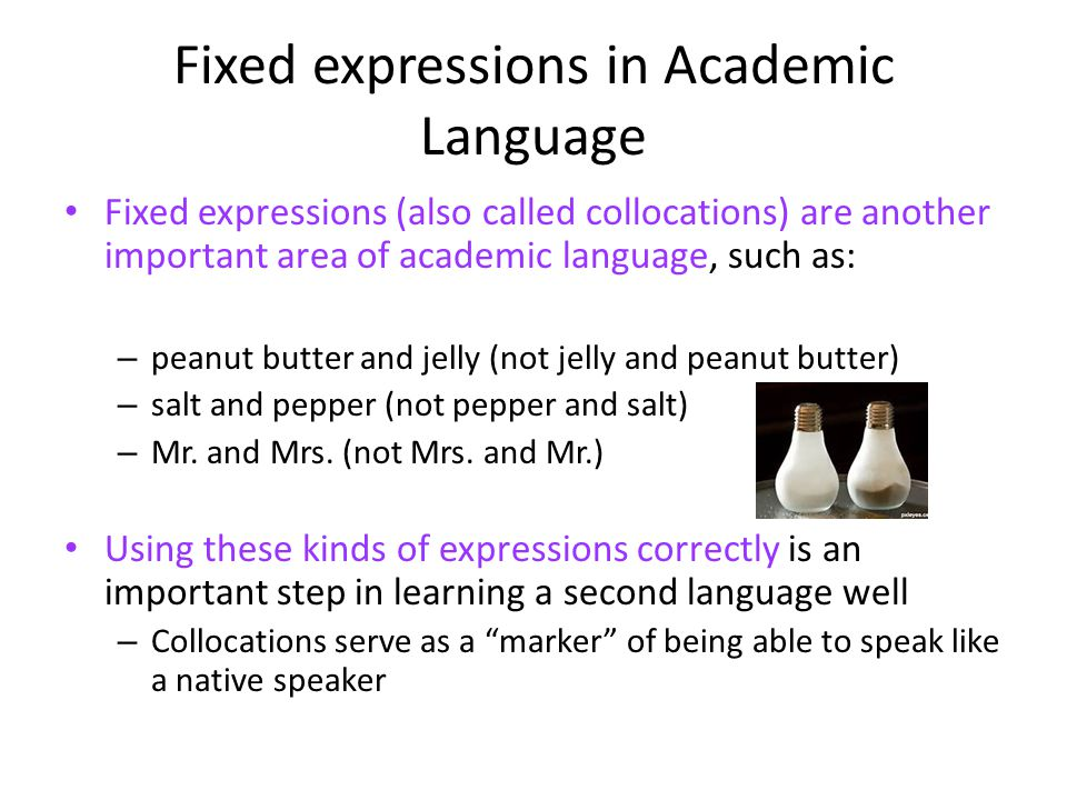 Fixed expressions in Academic Language