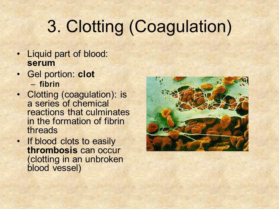 3. Clotting (Coagulation)