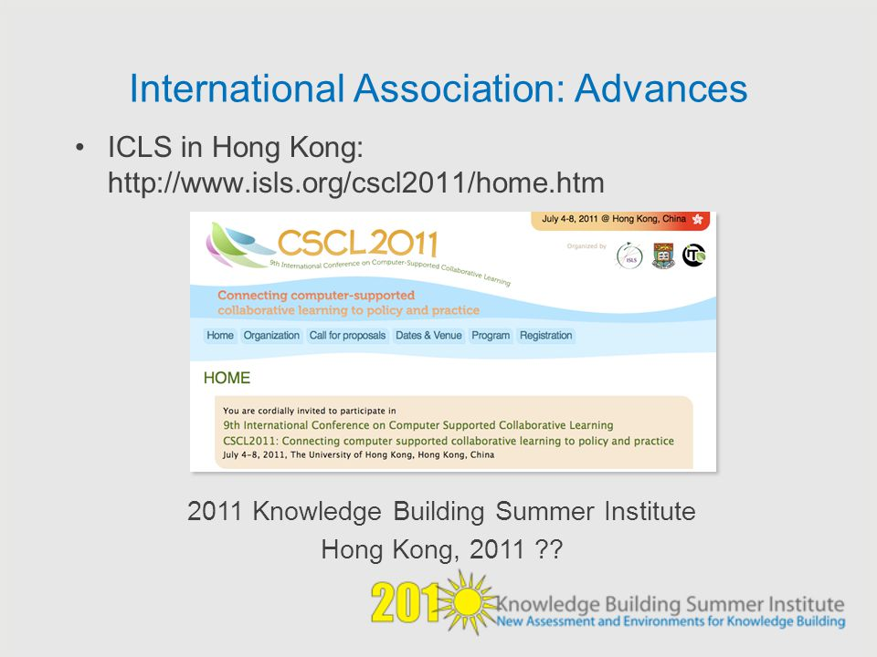 International Association: Advances