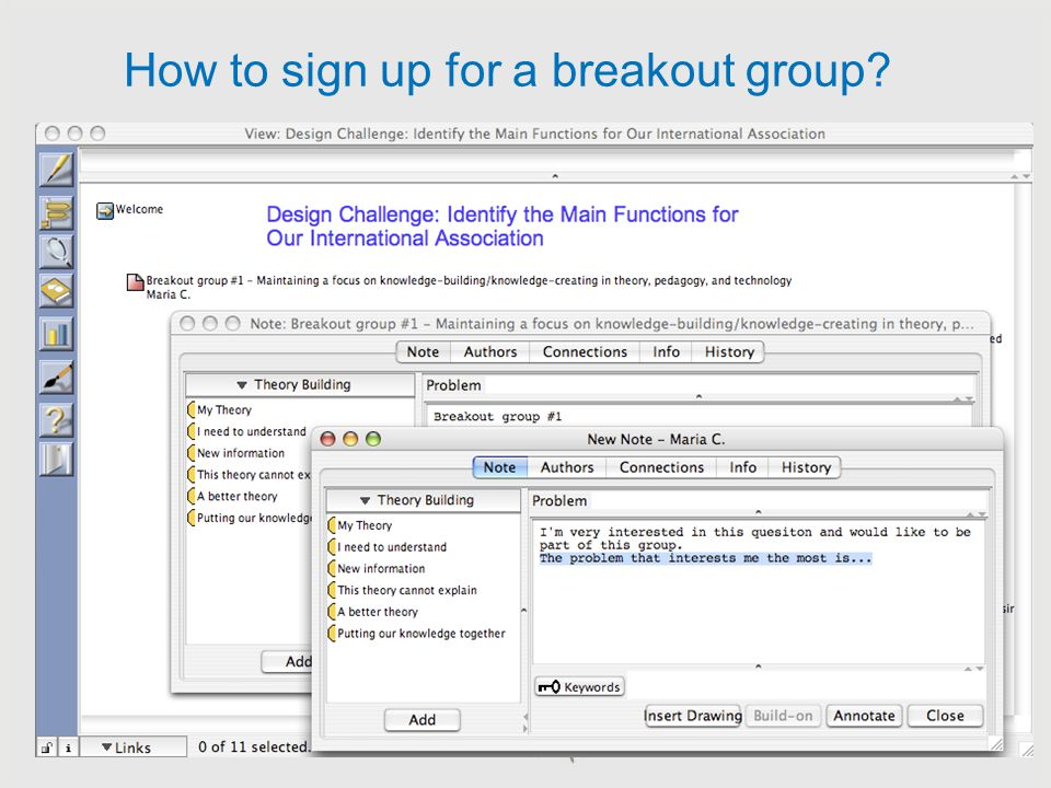 How to sign up for a breakout group. http://builder. ikit. org/login