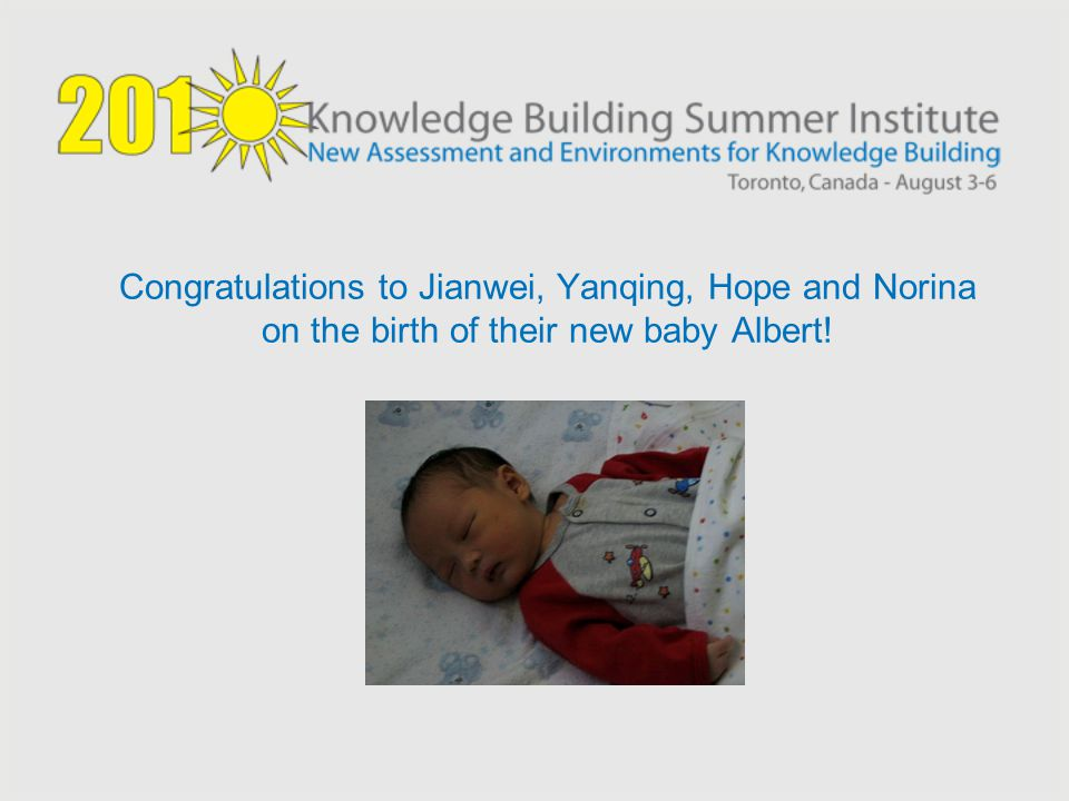 Congratulations to Jianwei, Yanqing, Hope and Norina on the birth of their new baby Albert!