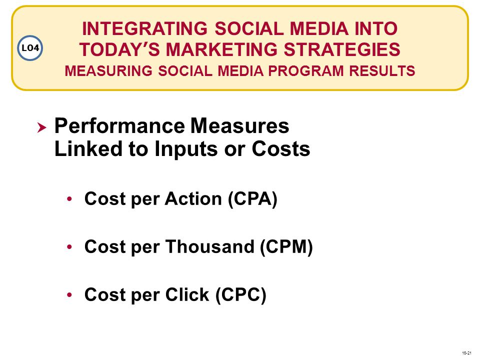 Performance Measures Linked to Inputs or Costs