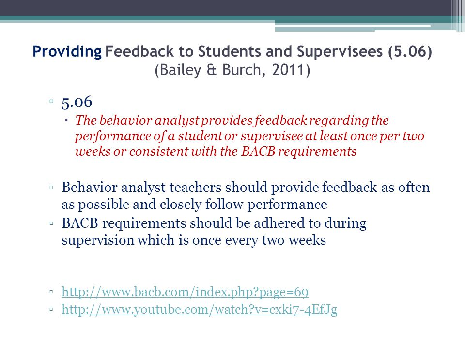 Providing Feedback to Students and Supervisees (5