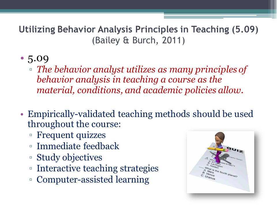 Utilizing Behavior Analysis Principles in Teaching (5
