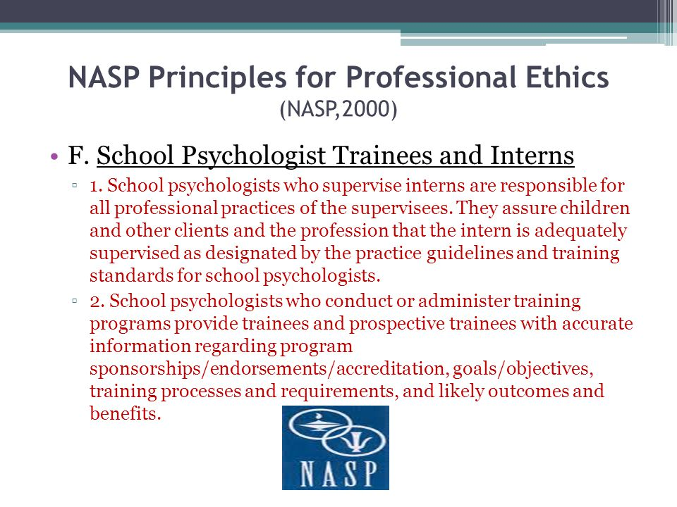 NASP Principles for Professional Ethics (NASP,2000)