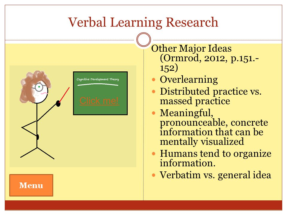 Verbal Learning Research