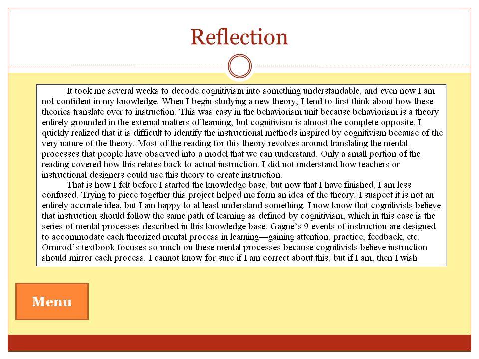 Reflection Menu