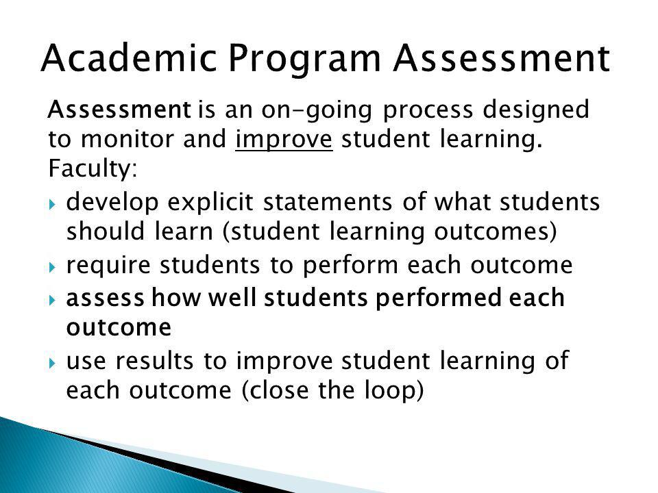 Academic Program Assessment