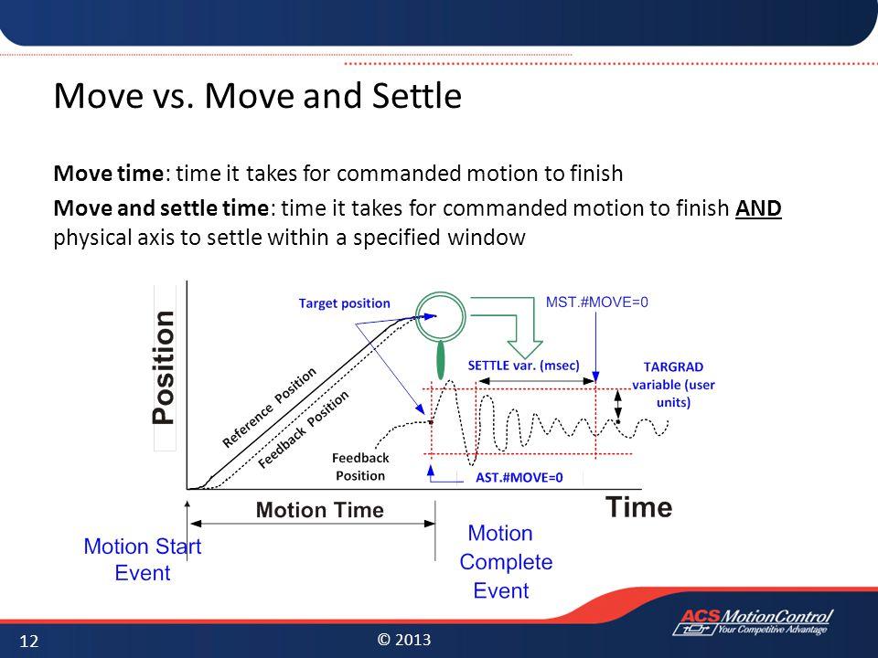 Move vs. Move and Settle