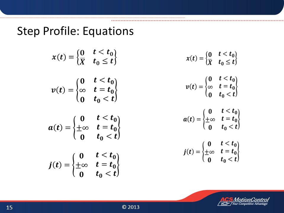 Step Profile: Equations