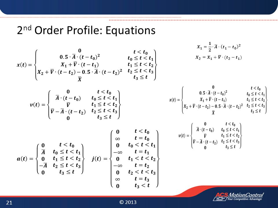 2nd Order Profile: Equations
