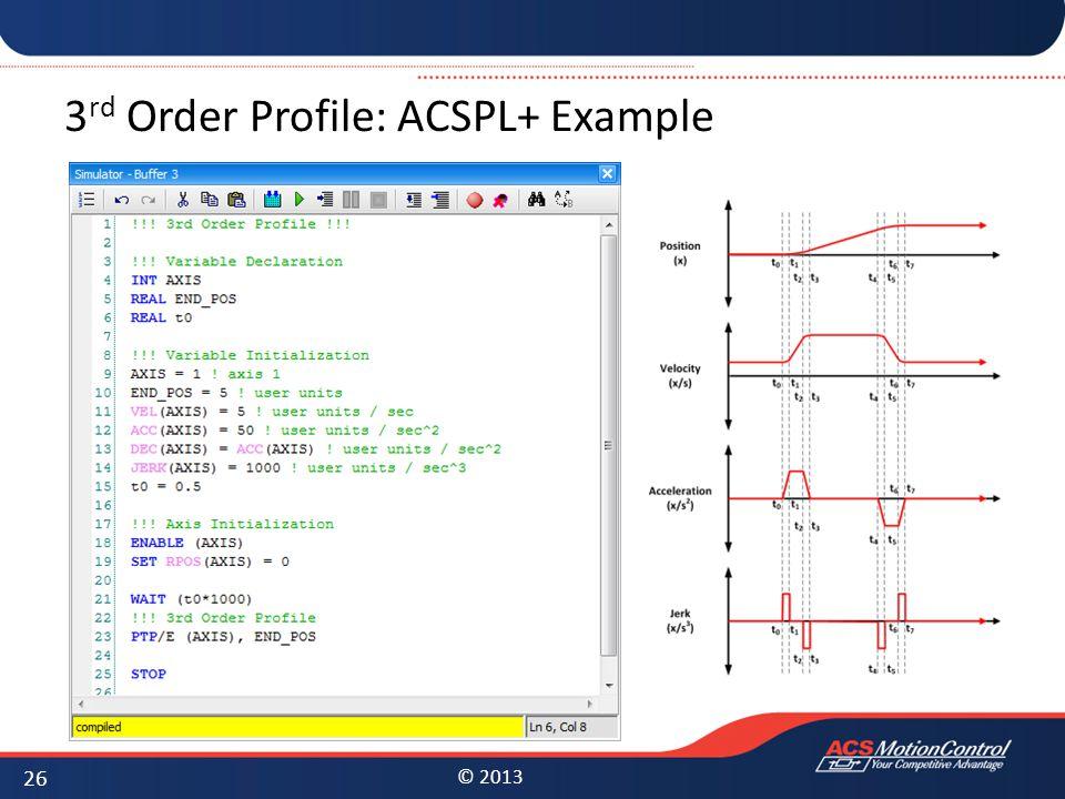 3rd Order Profile: ACSPL+ Example