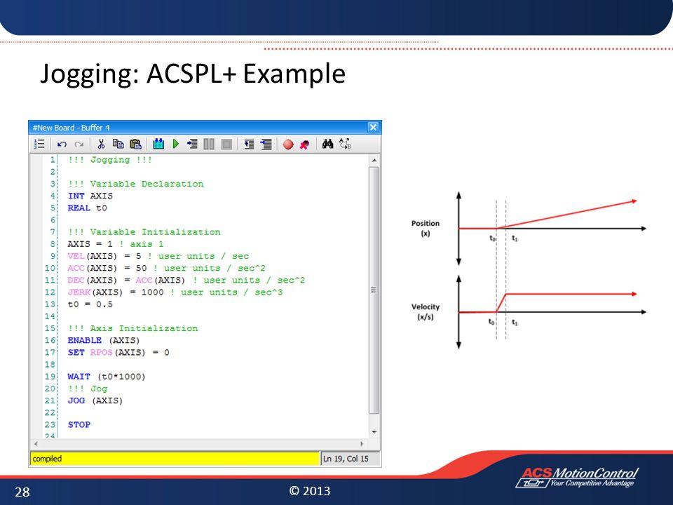 Jogging: ACSPL+ Example